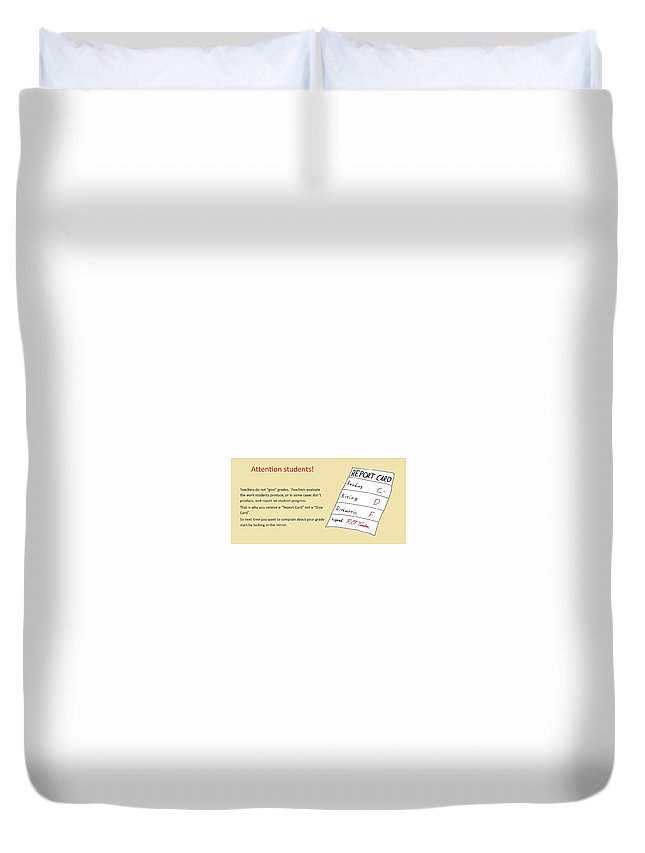 Report Duvet Cover featuring the drawing Give Card by David S Reynolds