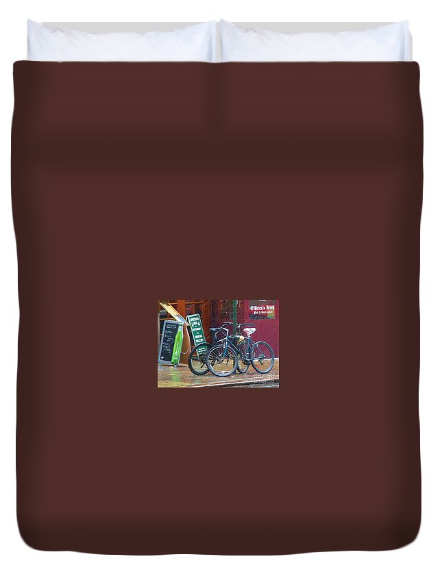 Bike Duvet Cover featuring the photograph Give Me Shelter by Debbi Granruth
