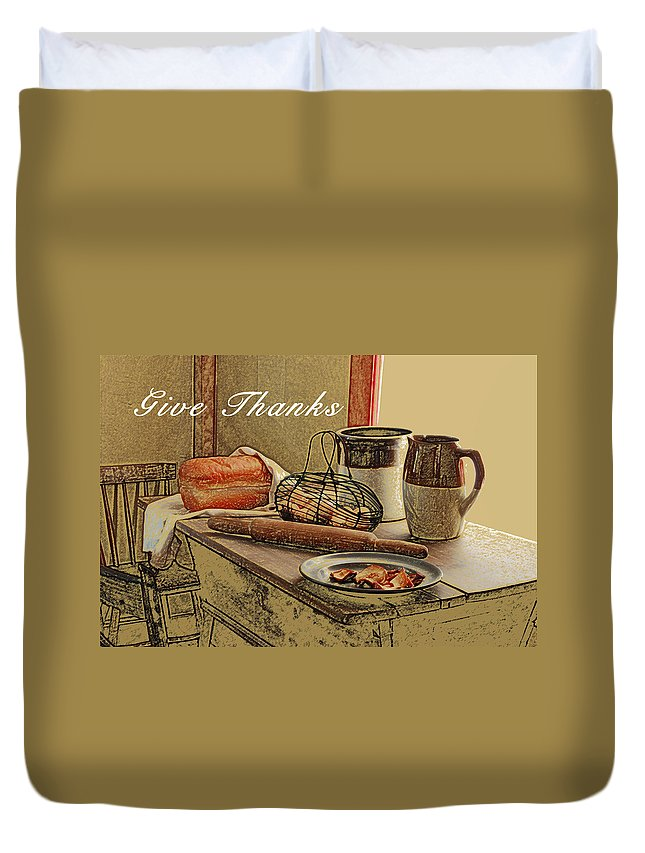 Thanksgiving Duvet Cover featuring the photograph Give Thanks by Michael Peychich