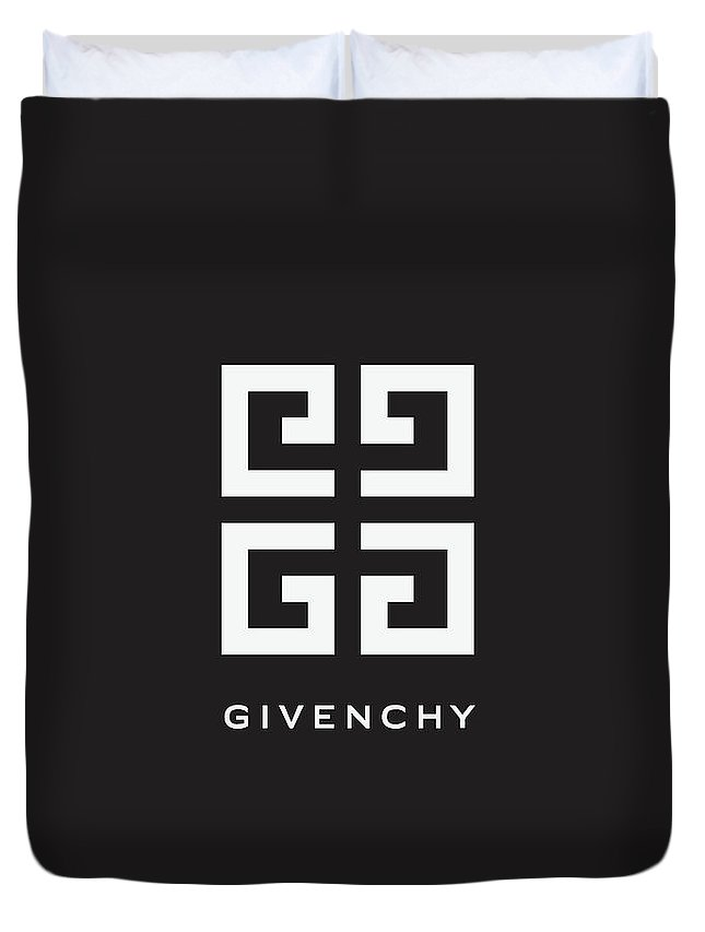 Givenchy Duvet Cover featuring the digital art Givenchy - Black And White - Lifestyle And Fashion by TUSCAN Afternoon
