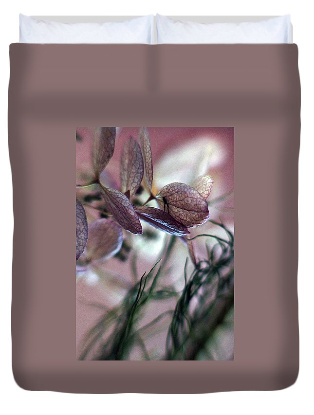 Flowers Duvet Cover featuring the photograph Giving... by Arthur Miller