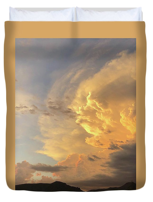 Duvet Cover featuring the photograph Giving Light by Joy Elizabeth