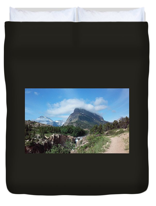 Montana Duvet Cover featuring the photograph Glacier by Carolyn Schreiner