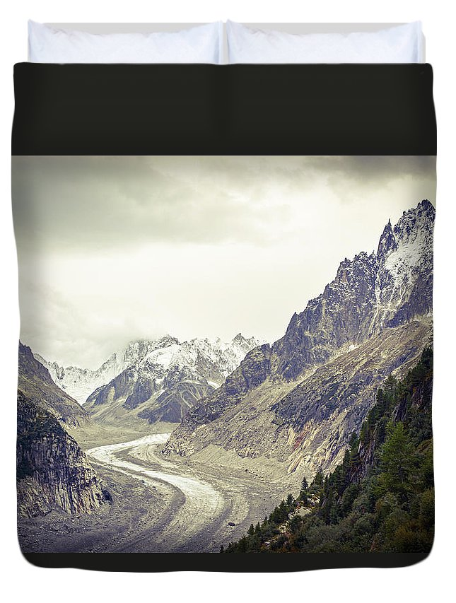 Glacier Duvet Cover featuring the photograph Glacierway by Christina Zizzo