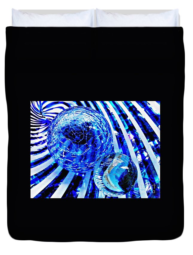 Glass Duvet Cover featuring the photograph Glass Abstract 110 by Sarah Loft