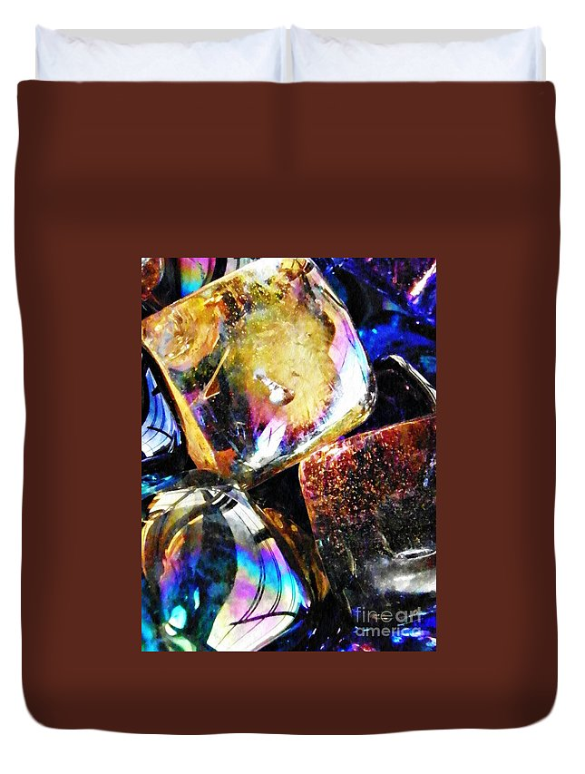 Abstract Duvet Cover featuring the photograph Glass Abstract 114 by Sarah Loft