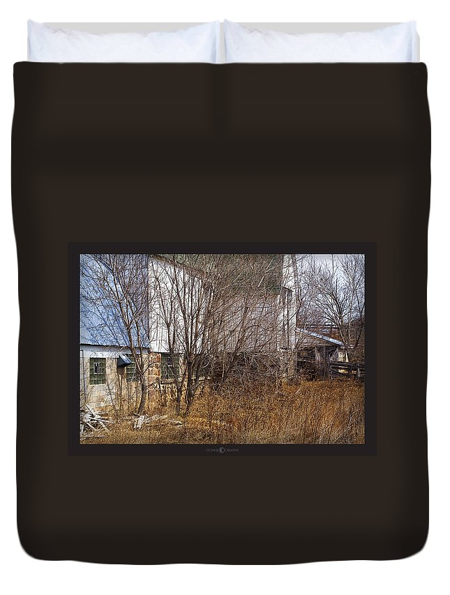 Barn Duvet Cover featuring the photograph Glass Block by Tim Nyberg