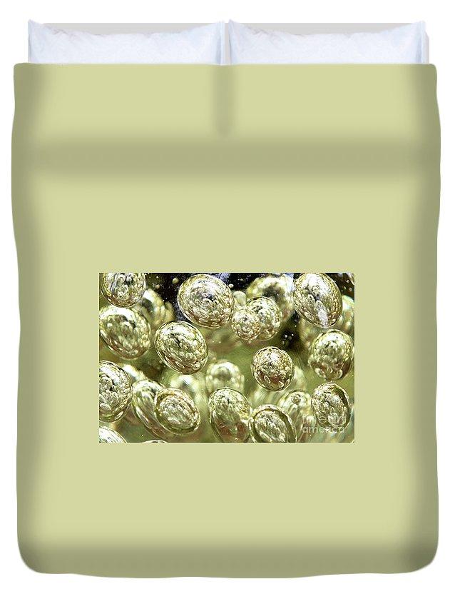 Glass Duvet Cover featuring the photograph Glass Bubbles by Anita Van Den Broek