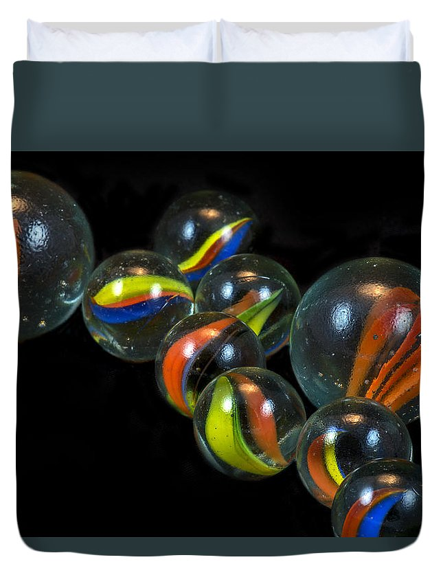 Glass Duvet Cover featuring the photograph Glass Marbles by Robert Storost