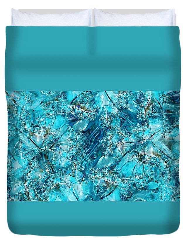 Collage Duvet Cover featuring the digital art Glass Sea by Ron Bissett