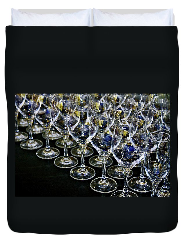 Flute Duvet Cover featuring the photograph Glass Soldiers by Stephen Mitchell
