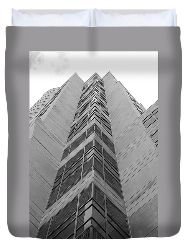 Architecture Duvet Cover featuring the photograph Glass Tower by Rob Hans