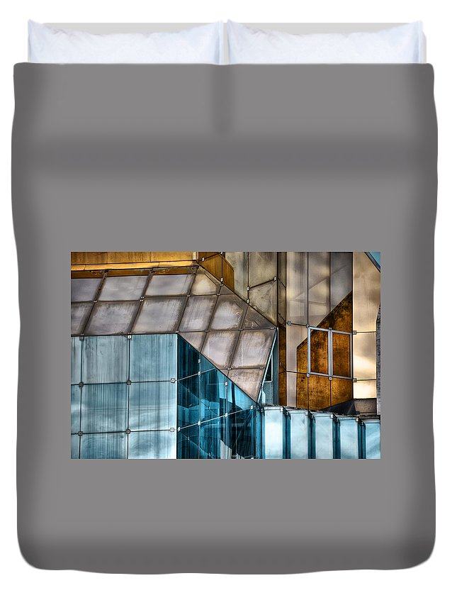 Glass Duvet Cover featuring the photograph Glassed by Wayne Sherriff