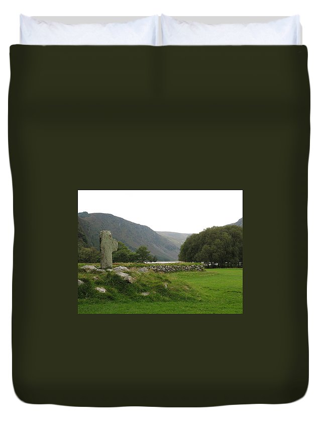 Glendalough Duvet Cover featuring the photograph Glendalough by Kelly Mezzapelle