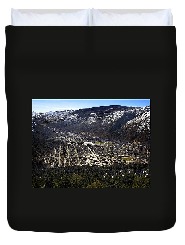 City Duvet Cover featuring the photograph Glenwood Springs Canyon by Marilyn Hunt