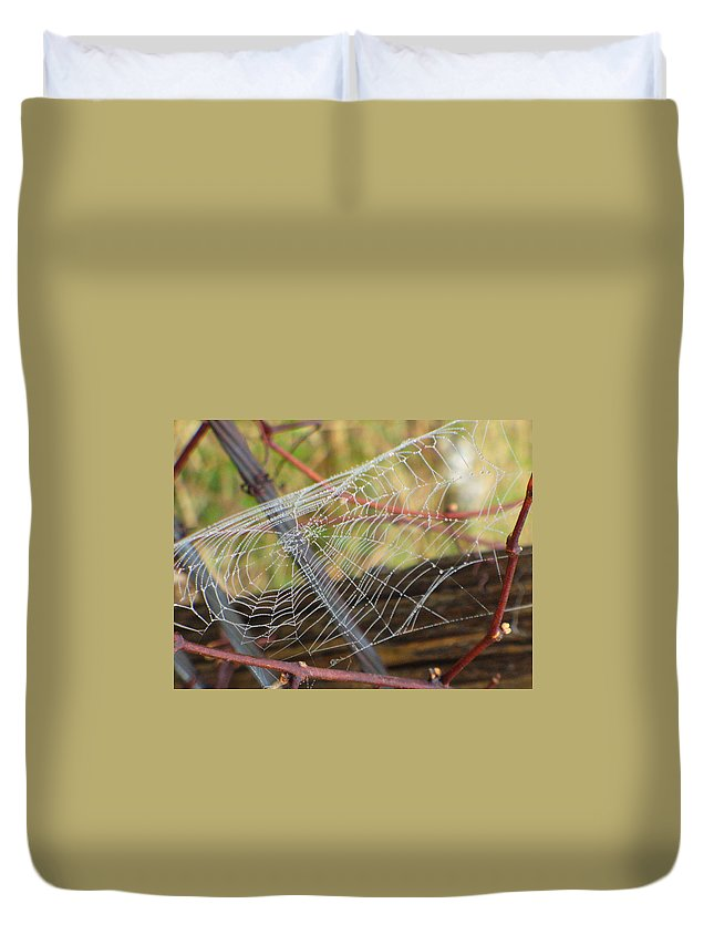Nature Duvet Cover featuring the photograph Glisten by Peggy King