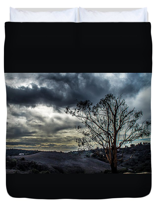 Gloomy Duvet Cover featuring the photograph Gloomy Day by Hyuntae Kim