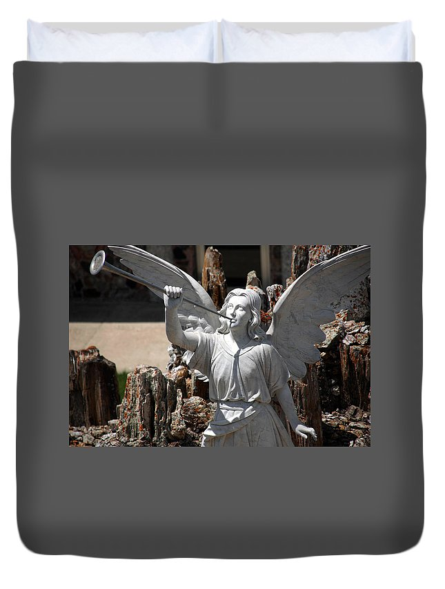 Angel Duvet Cover featuring the photograph Gloria In Excelsis Deo by Susanne Van Hulst
