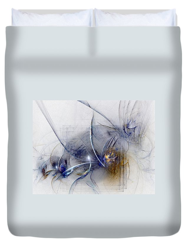 Glory Duvet Cover featuring the digital art Glorifying The Vision by NirvanaBlues