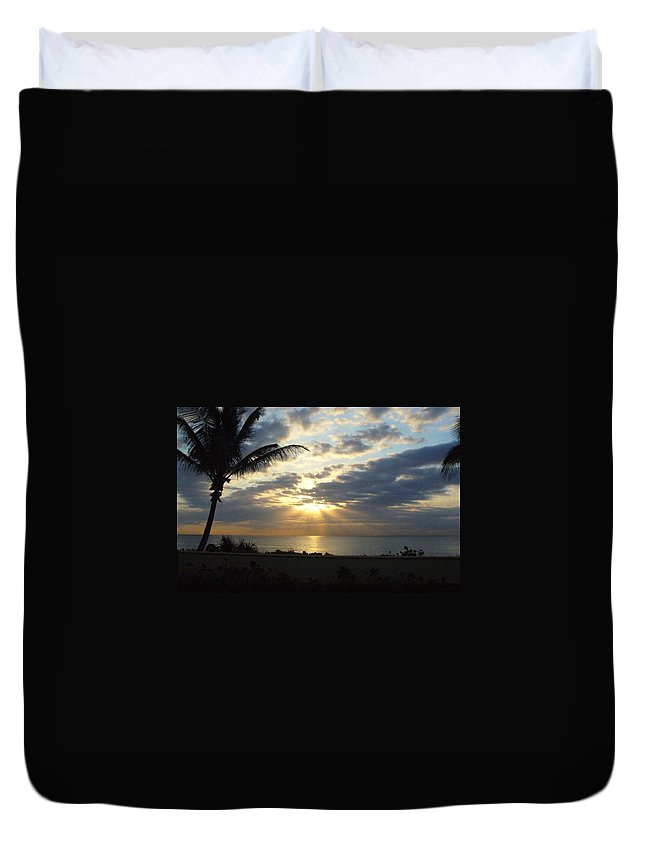 Sunrise Duvet Cover featuring the photograph Glorious Morning by Peggy King