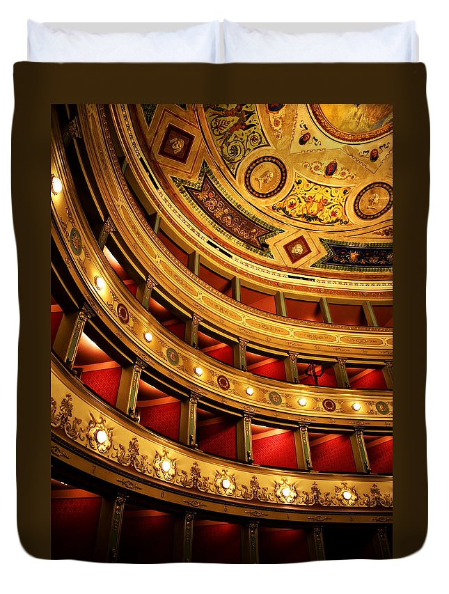 Theatre Duvet Cover featuring the photograph Glorious Old Theatre by Marilyn Hunt
