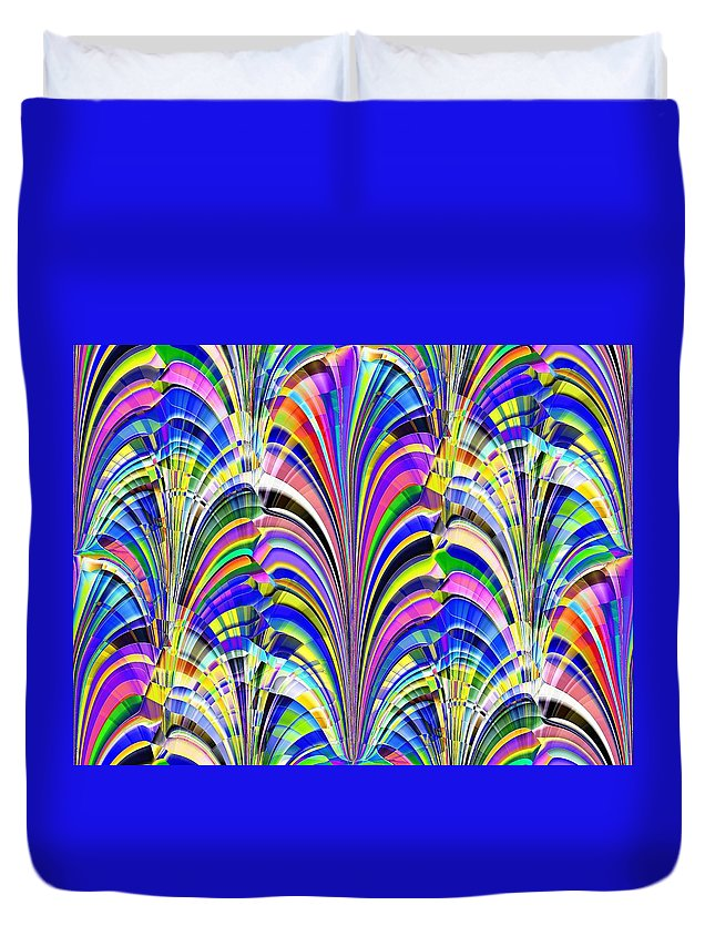 Abstract Duvet Cover featuring the digital art Glorious by Tim Allen