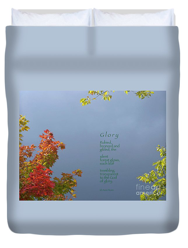 Autumn Duvet Cover featuring the photograph Glory by Ann Horn