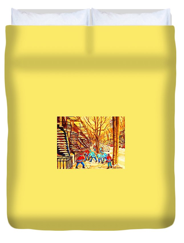Golden Days Duvet Cover featuring the painting Glory Days by Carole Spandau