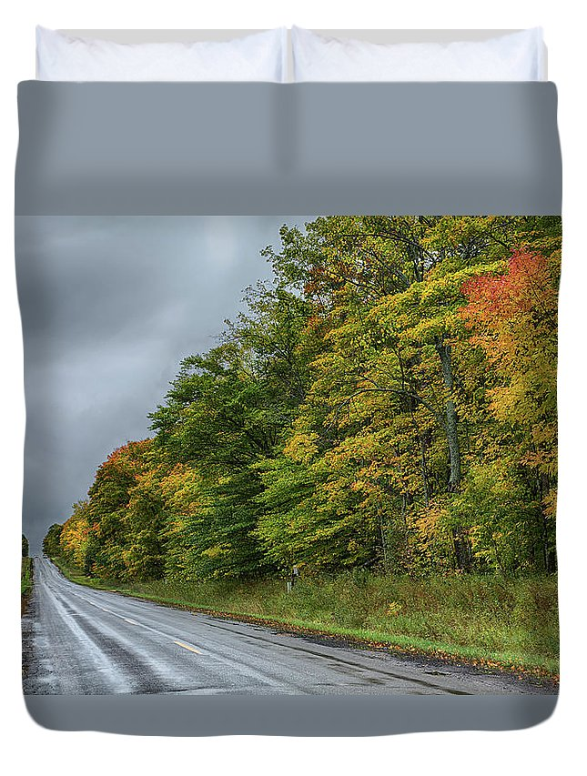 Sky Duvet Cover featuring the photograph Glory Of The Trees by John M Bailey