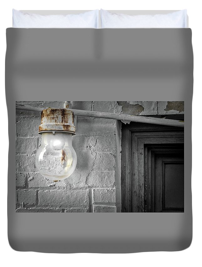 Architecture Duvet Cover featuring the photograph Glowing Globe by Jim Love