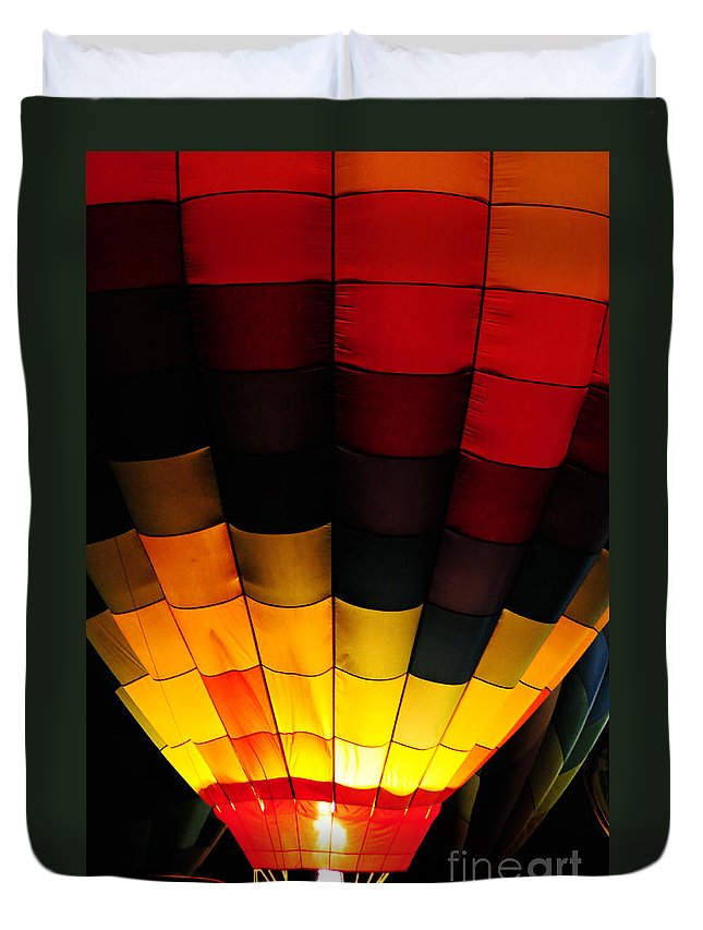 Clay Duvet Cover featuring the photograph Glowing II by Clayton Bruster