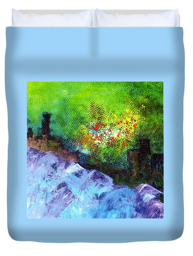 Duvet Cover featuring the painting Glp Pg 23 by Mary Leonard