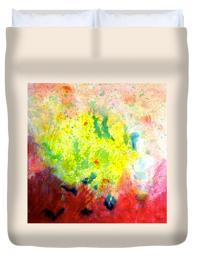 Duvet Cover featuring the painting Glp Pg 6 by Mary Leonard
