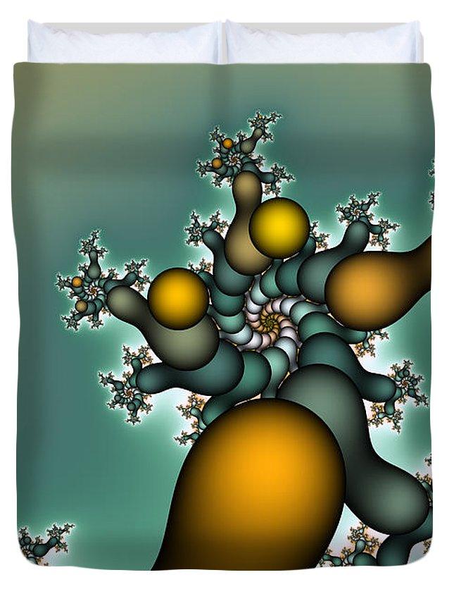 Fractal Duvet Cover featuring the digital art Gnarly Tree by Jutta Maria Pusl