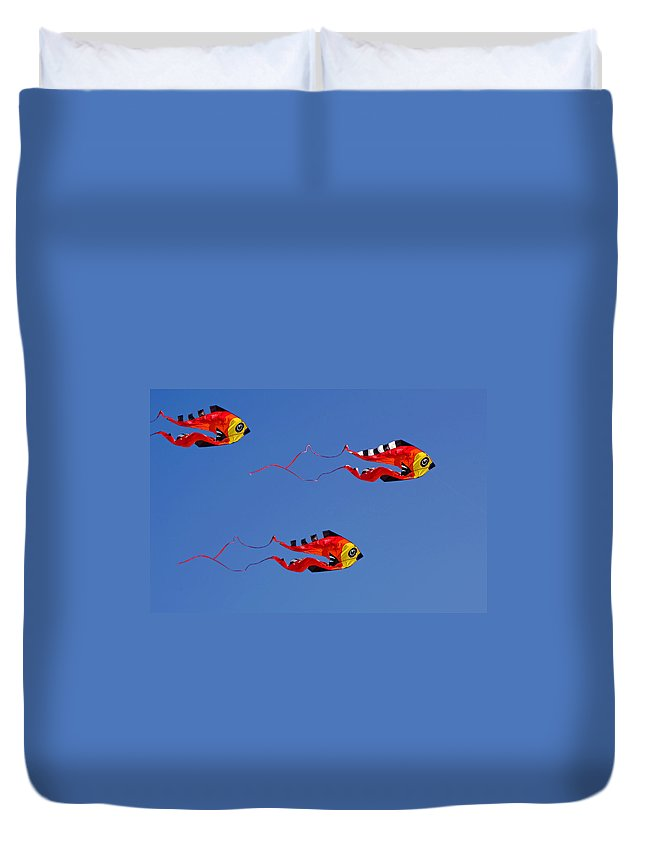 Clay Duvet Cover featuring the photograph Go Fly A Kite by Clayton Bruster