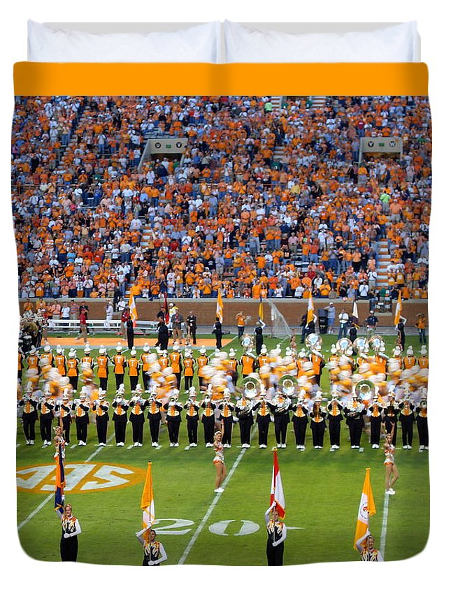 Events Duvet Cover featuring the photograph Go Vols by April Patterson