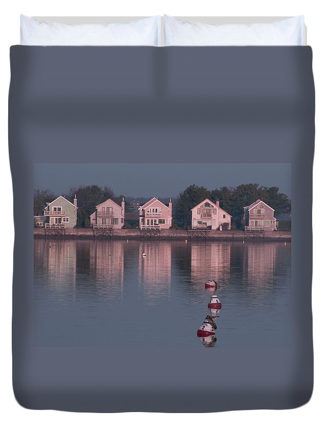 Goat Island Duvet Cover featuring the photograph Goat Island by Steven Natanson