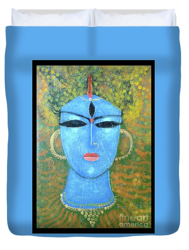 God Duvet Cover featuring the painting GOD by Arindam Chakraborty
