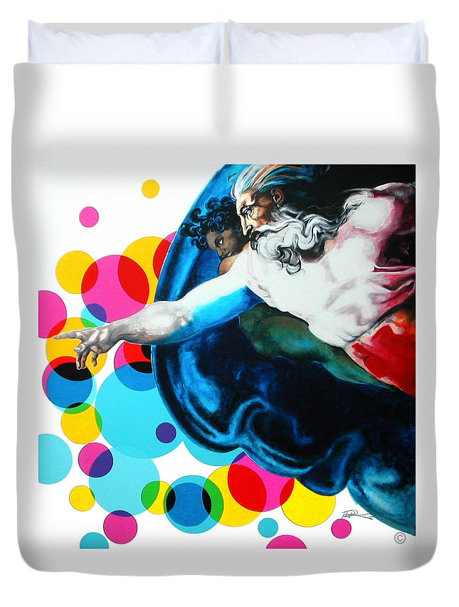 Classic Duvet Cover featuring the painting God by Jean Pierre Rousselet