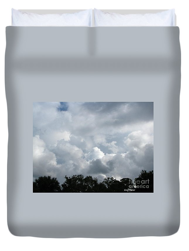 Patzer Duvet Cover featuring the photograph God Scent by Greg Patzer