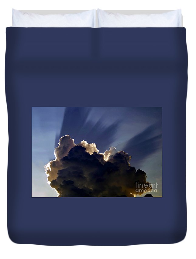 God Duvet Cover featuring the painting God Speaking by David Lee Thompson