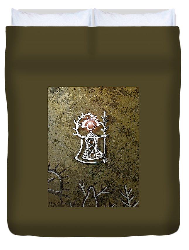 Goddess Duvet Cover featuring the digital art Goddess Of Fertility by Merja Waters