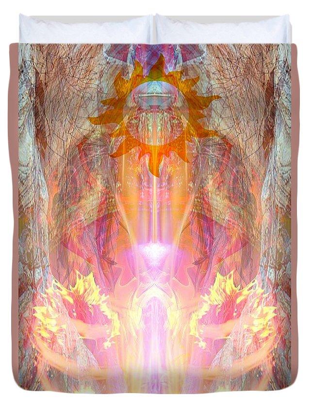 Duvet Cover featuring the digital art Goddess Shakuru by Rich Baker
