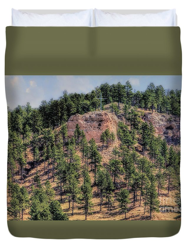 Chadron State Park Duvet Cover featuring the photograph God's Beauty by Elizabeth Winter