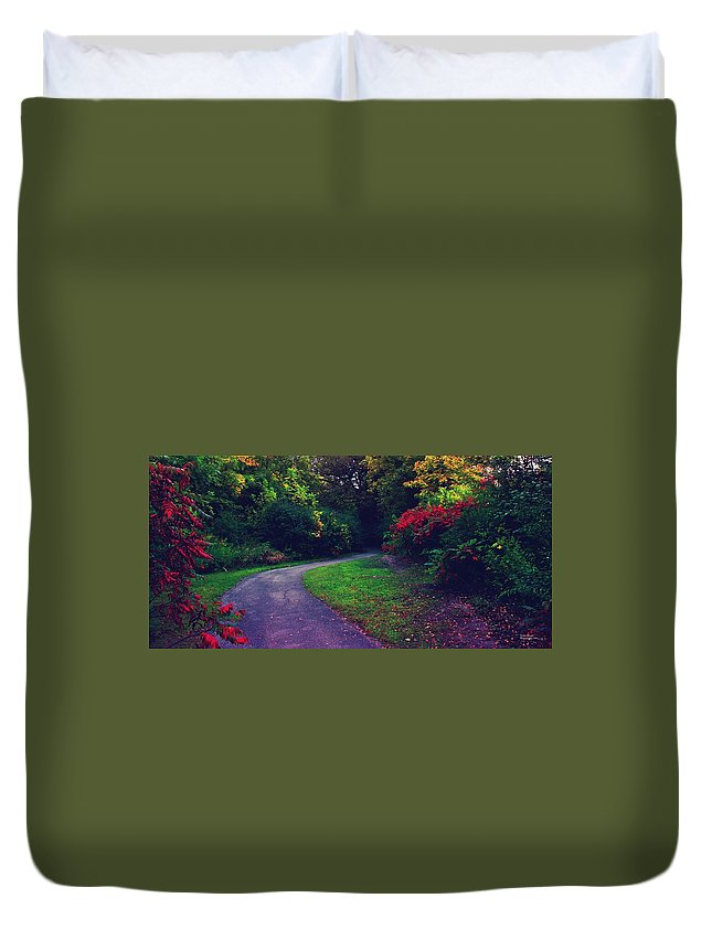 Trail Duvet Cover featuring the photograph Going by Devin Dixon