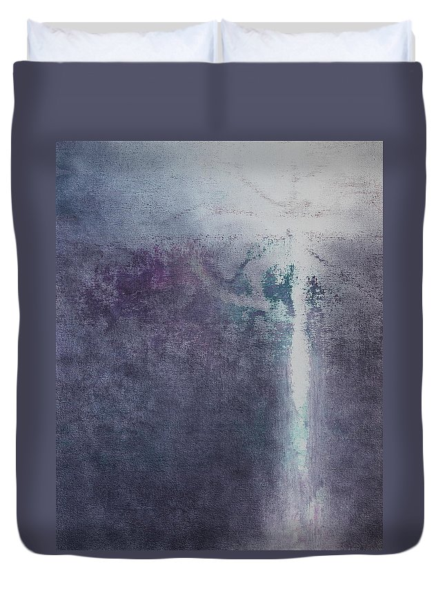 Spirit Duvet Cover featuring the painting Going Home by Tom Brooks