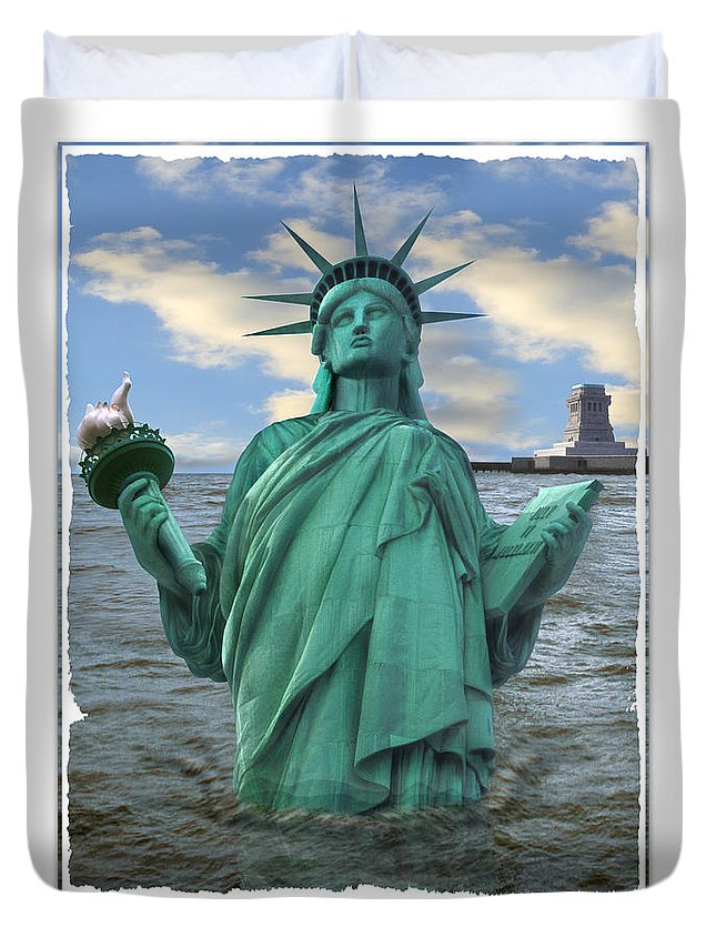 Surrealism Duvet Cover featuring the photograph Going South by Mike McGlothlen