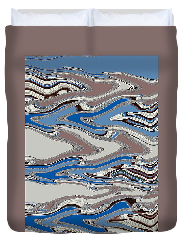 Abstract Duvet Cover featuring the digital art Going To The Ends Of The Earth by Lenore Senior