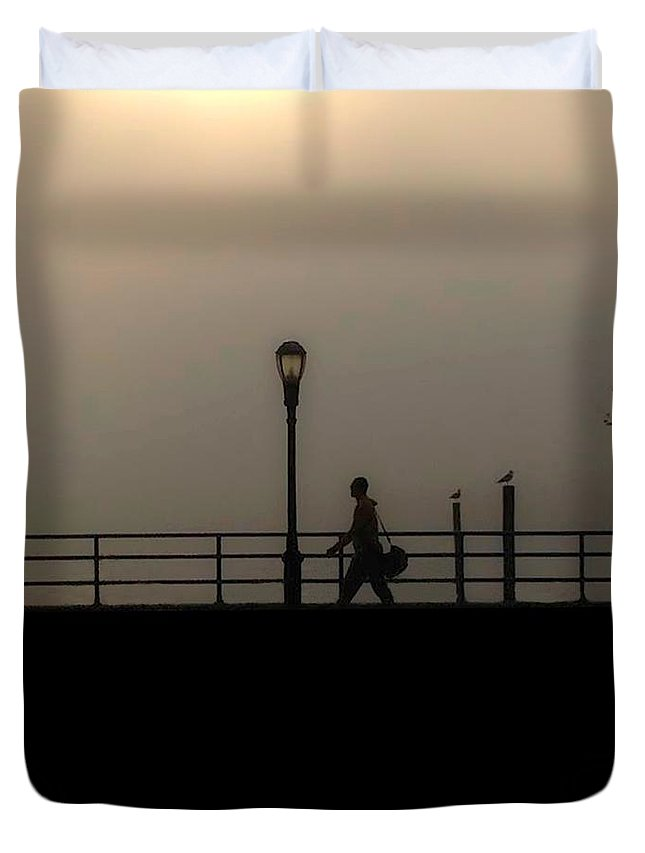 Brooklyn Duvet Cover featuring the photograph Going To Work by Jeff Watts