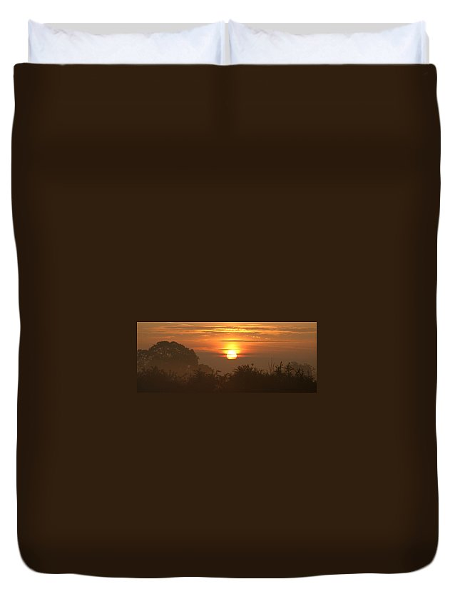 Sun Duvet Cover featuring the photograph Gold by Maria Joy